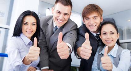 ลูกค้าที่เรียนคอร์สภาษาอังกฤษองค์กรกับสถาบัน EduFirst