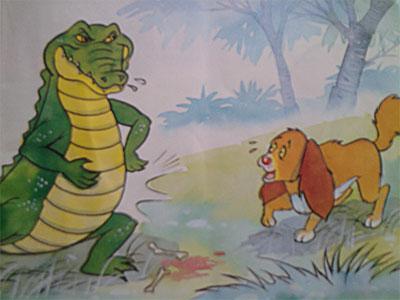 เรียนภาษาอังกฤษ จากนิทานเรื่อง สุนัขกับจระเข้ (The Dog and The Crocodile)