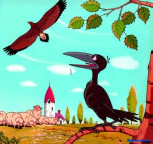 นิทานอีสปภาษาอังกฤษ นกอินทรีกับอีกา (The Eagle and the Crow)