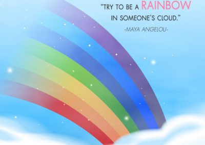 "Quote life คำคมให้กำลังใจ ""Try to be a rainbow in someone's cloud."" พยายามเป็นสายรุ้งในเมฆของใครซักคน"
