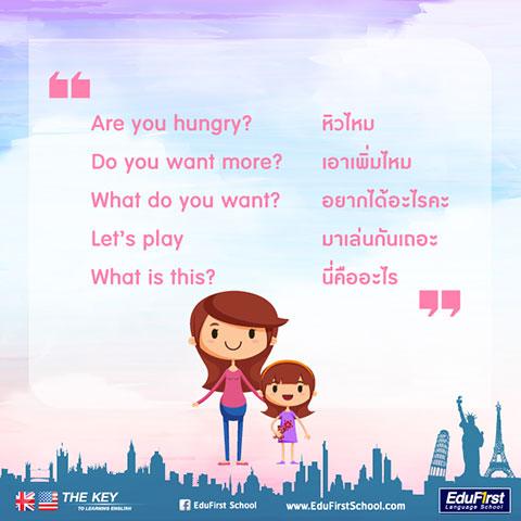 ฝึกประโยคภาษาอังกฤษกับลูก คำถามภาษาอังกฤษ