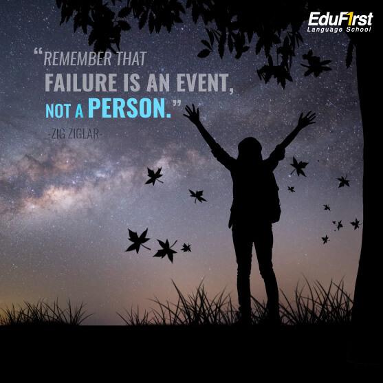 คําคมชีวิตต้องสู้  Life Quotes - Remember that failure is an event not a person - เรียนภาษาอังกฤษ คำคมชีวิต โรงเรียนสอนภาษาอังกฤษ เอ็ด ดู เฟิร์สท์