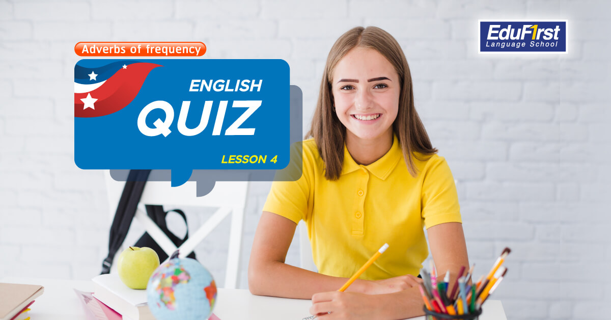 เรียนภาษาอังกฤษ Adverbs of frequency คำกริยาวิเศษณ์บอกความถี่ - แบบทดสอบภาษาอังกฤษ ตอนที่ 4 English Quiz