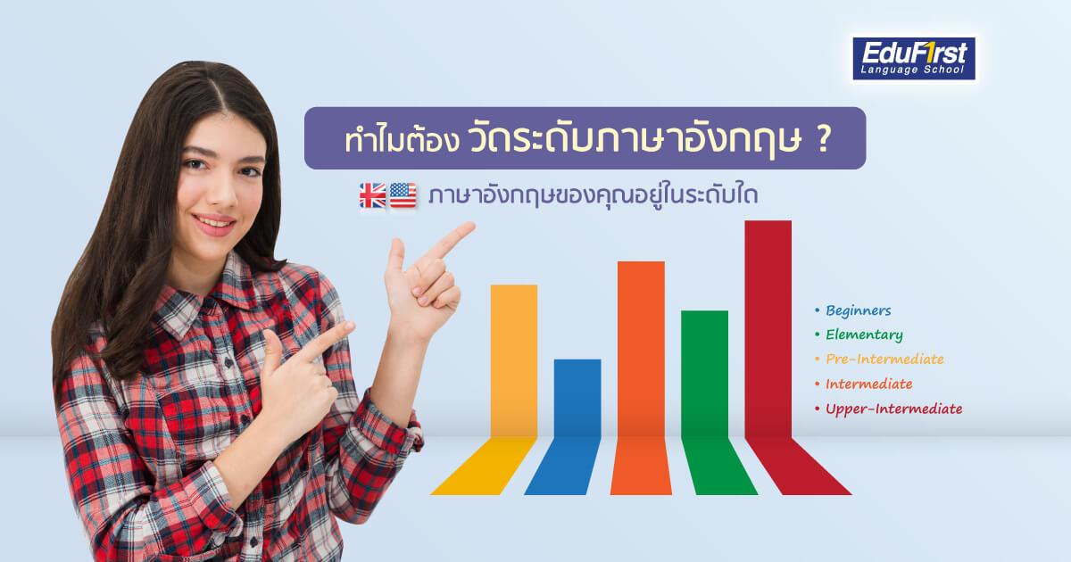 ระดับภาษาอังกฤษ วัดระดับภาษาอังกฤษ เพื่อวางแผนทางการเรียนภาษาอังกฤษ - โรงเรียนสอนภาษาอังกฤษ EduFirst