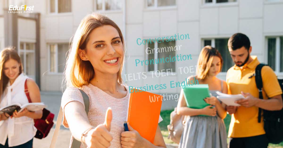 English for Adult, For students aged 15 years or over. English Course for Adults : Conversation, Grammar, IELTS, TOEFL, TOEIC, Business, Writing, one-to-one - learn english EduFirst School