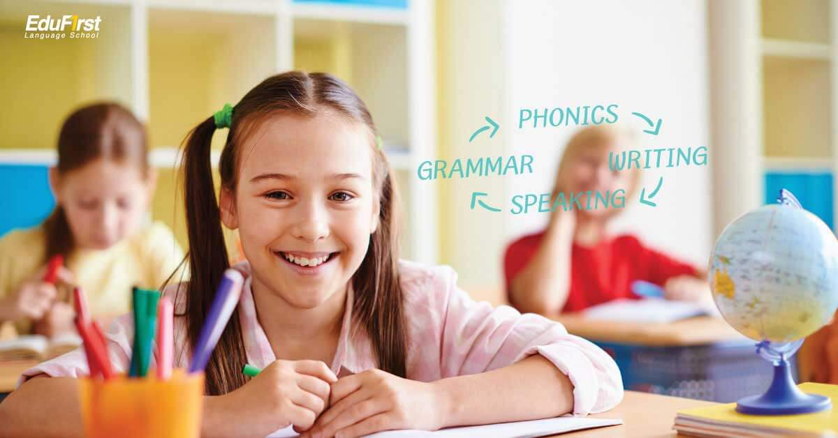 EduFirst's English for Kids program is an English course designed for 5 -14 year olds, specially designed to meet the needs of our students and improve English skills from basic to advanced level. Suitable for students of different ages. All courses are taught by qualified native speakers with special experience for teaching English for children. - EduFirst School