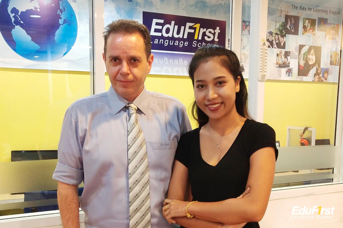 เรียนพูดภาษาอังกฤษ ตัวต่อตัว หลักสูตร Private General Conversation Course น้องเชอรี่ นักเรียนของ โรงเรียนสอนภาษาอังกฤษ เอ็ด ดู เฟิร์สท์ พระราม9
