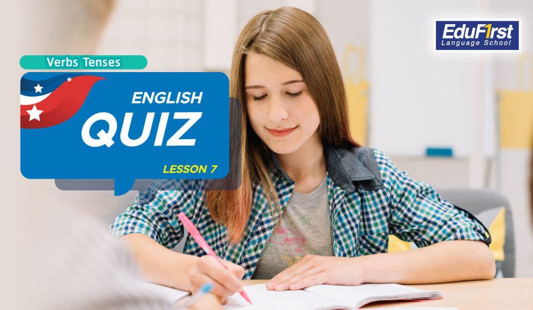 การเรียนรู้ Verb Tenses ภาษาอังกฤษ (English Quiz Lesson7)0 (0)