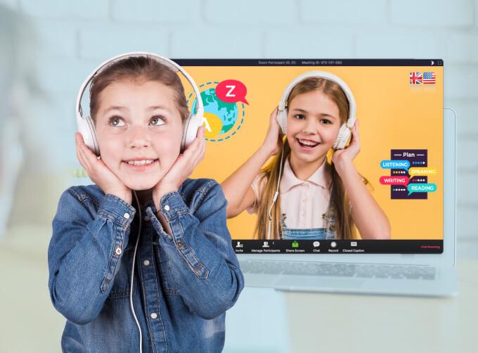 เรียนภาษาอังกฤษออนไลน์สำหรับเด็ก อายุ 5-14 ปี เพื่อให้น้องๆ พัฒนาทักษะ ฟัง พูด เป็นหลัก เรียนสนุก พร้อมนำไปใช้อย่างมั่นใจ เป็นธรรมชาติ